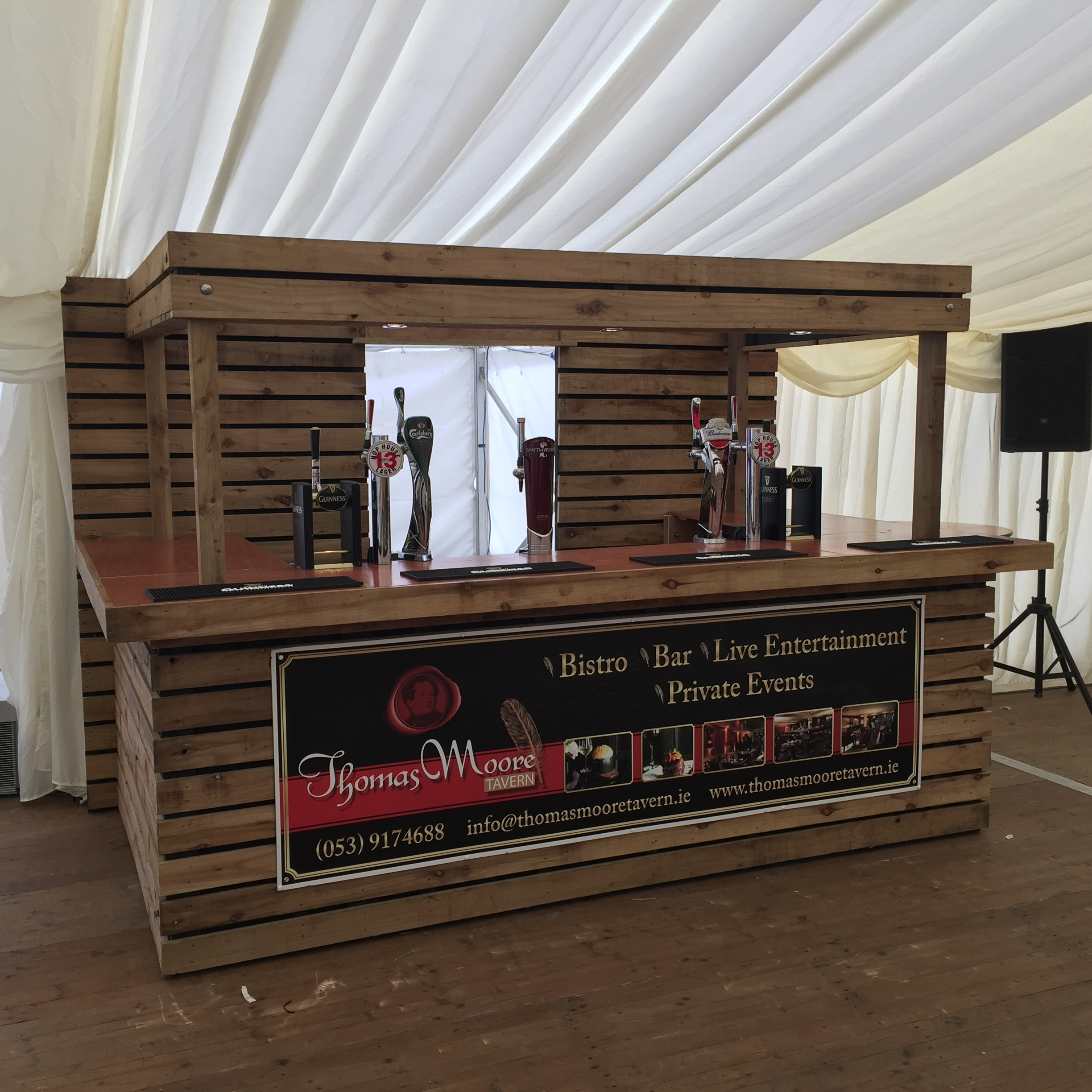 15 Distinguished Rustic Home Bar Designs For When You: New Pallet Bar Going Down A Treat